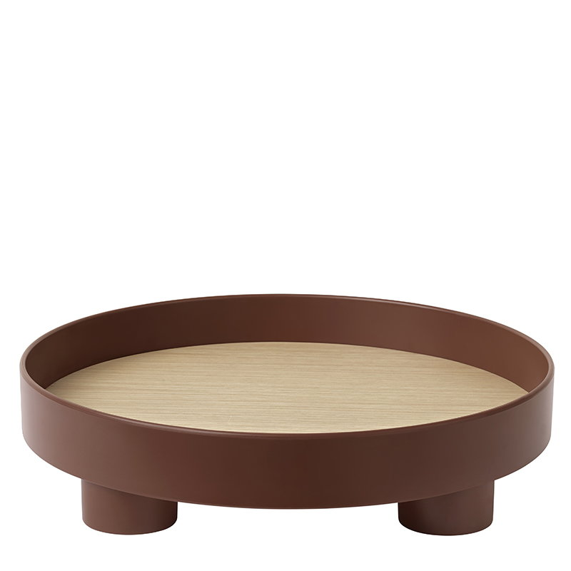 Muuto Platform tray, dark red