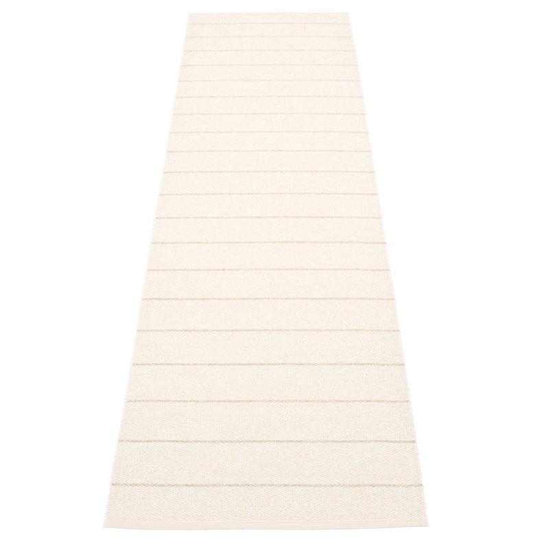 Pappelina Carl matto 70 x 270 cm, vanilja - valkoinen