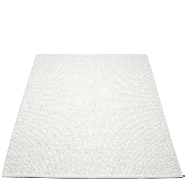 Pappelina Svea rug, 140 x 220 cm, white metallic