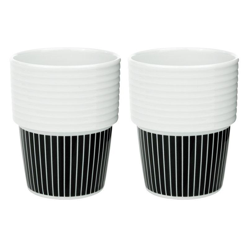 Rörstrand Filippa K coffee mug 0,31 L, 2 pcs, Pinstripes