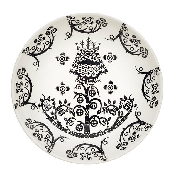 Iittala Taika deep plate 20 cm, deco black