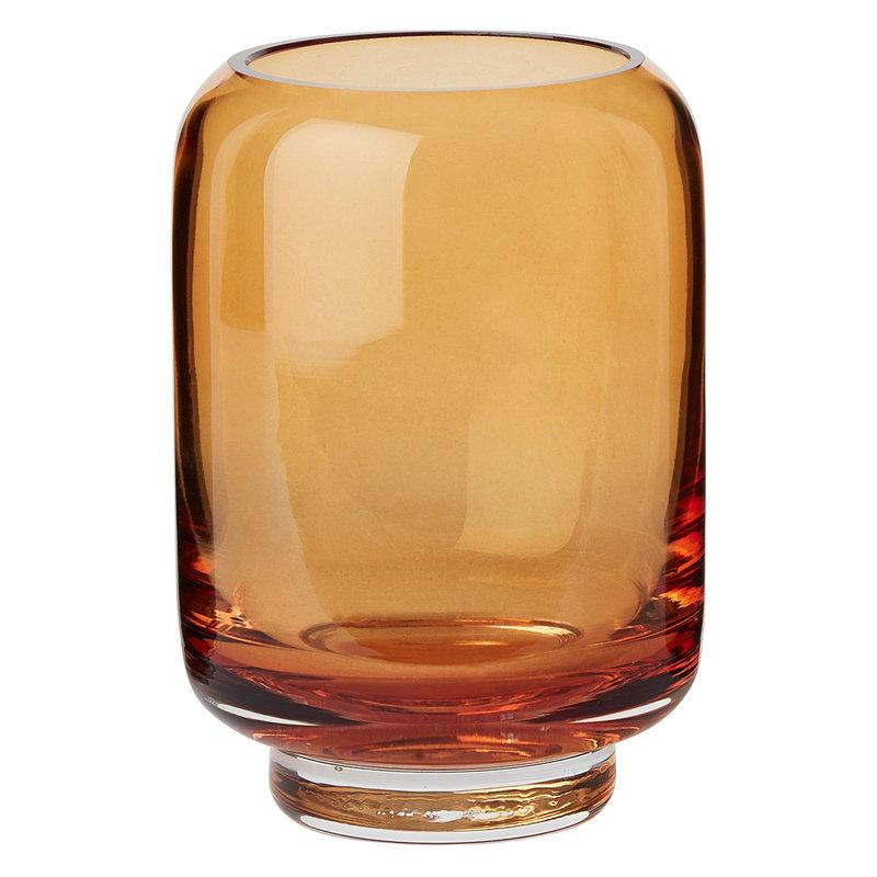 Warm Nordic Stack vase, amber