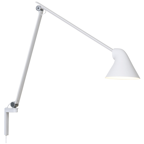 Louis Poulsen NJP wall lamp, long arm, white