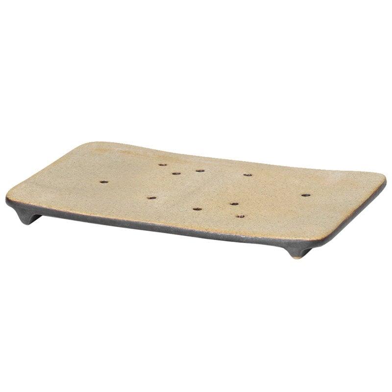 Ferm Living Bon Accessories soap tray, sand - black
