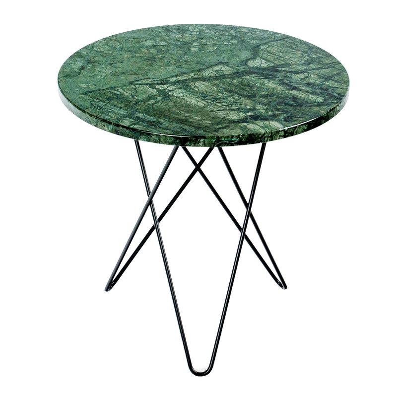 OX Denmarq Tall Mini O table, black - green marble