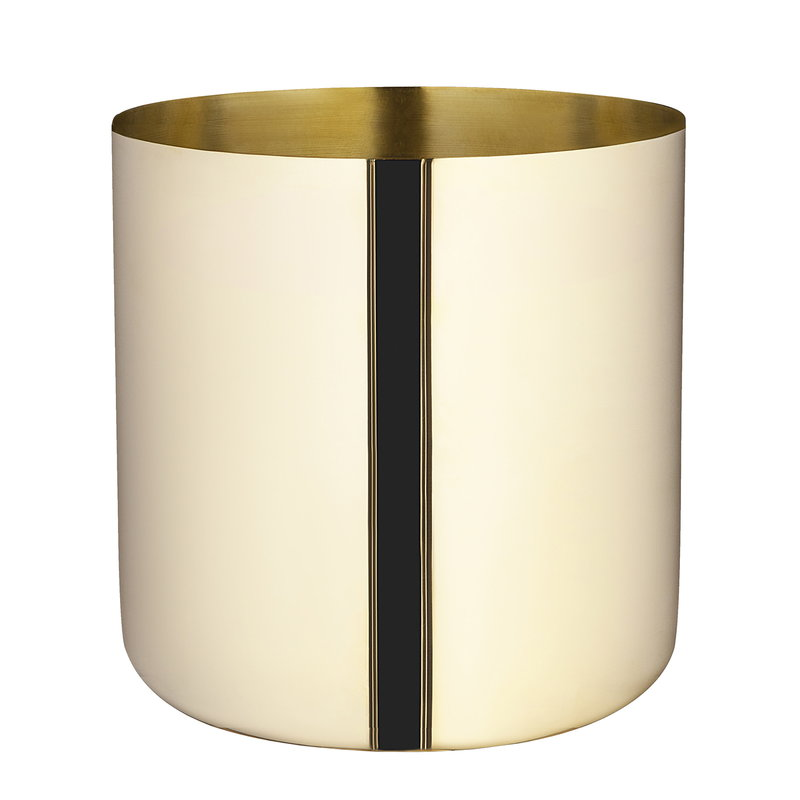 Skultuna Nurture planter, large, brass