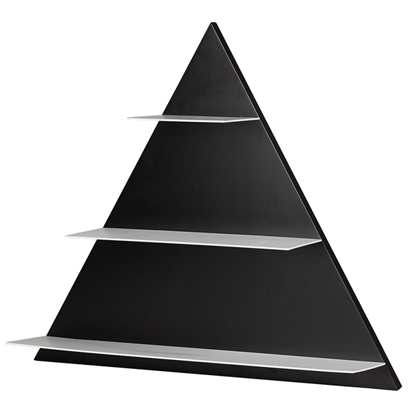 Design Letters Black Paper Triangle seinähylly