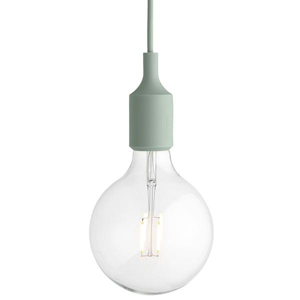 Muuto E27 LED socket lamp, light green