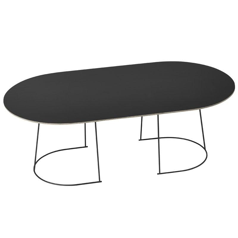 Muuto Airy sohvapöytä, iso, musta
