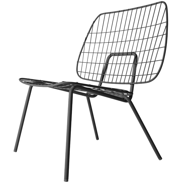 Menu WM String lounge chair, black