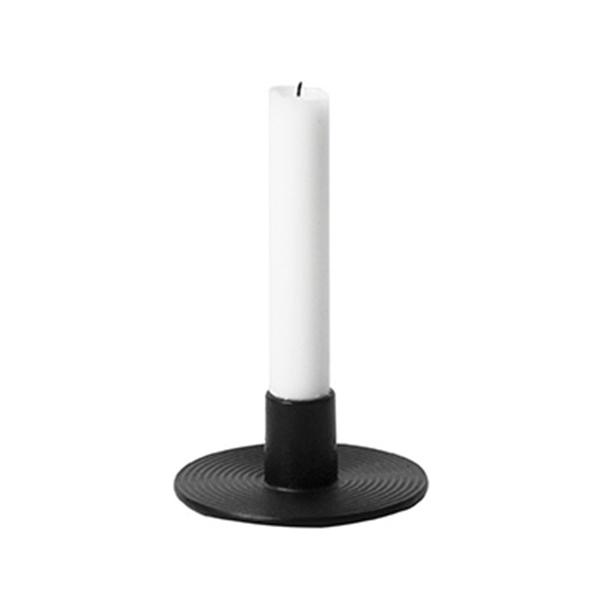 Ferm Living Cast Iron candleholder, black