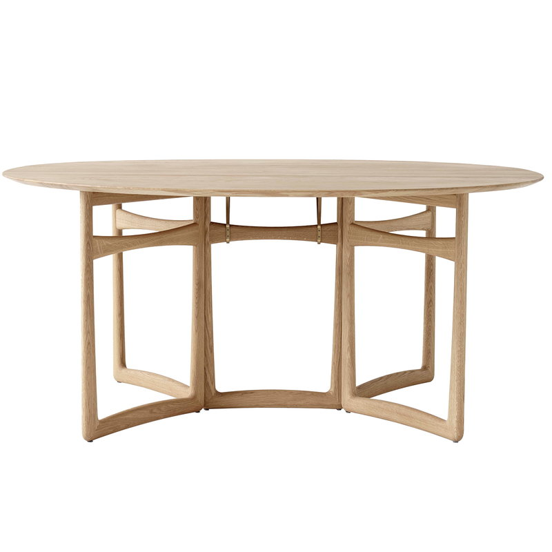 &Tradition Drop Leaf HM6 dining table, white oiled oak