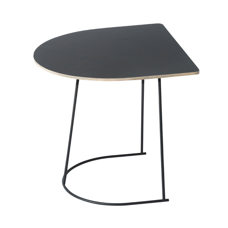 Muuto Airy coffee table, half size, black