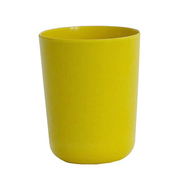 Ekobo Bicchiere per spazzolino BIOBU Bano, giallo