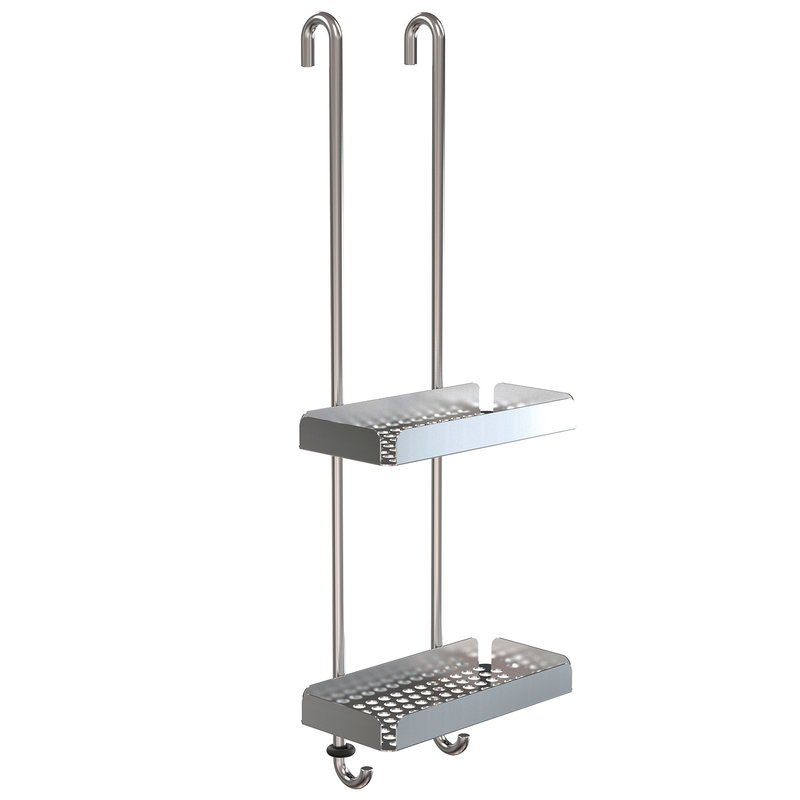 Frost Nova2 shower shelf 6, brushed steel