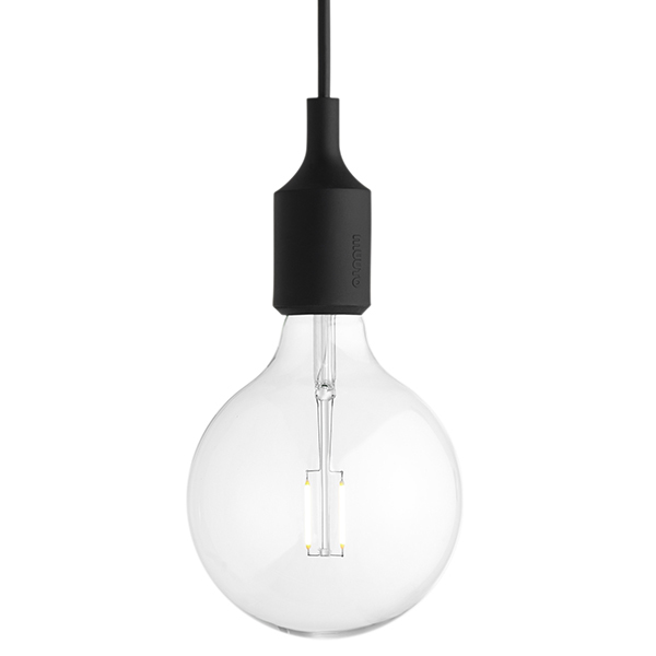 Muuto E27 LED socket lamp, black