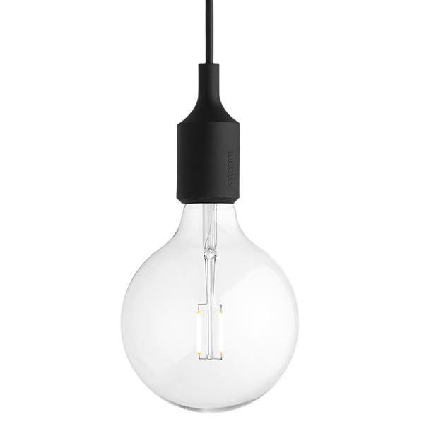 Muuto E27 LED socket lamp, black
