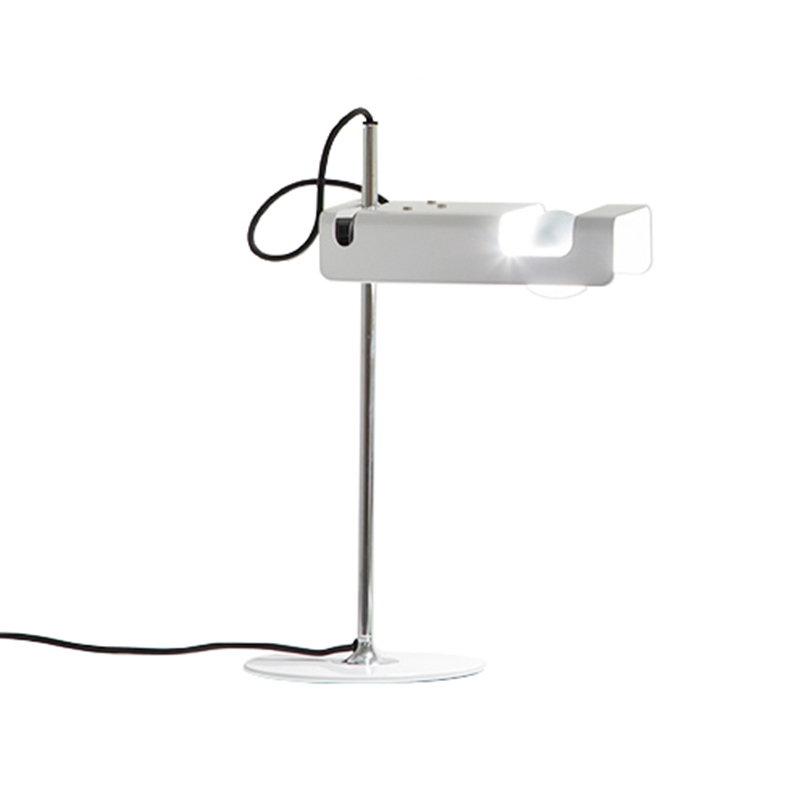 Oluce Lampada da tavolo Spider 291, bianca