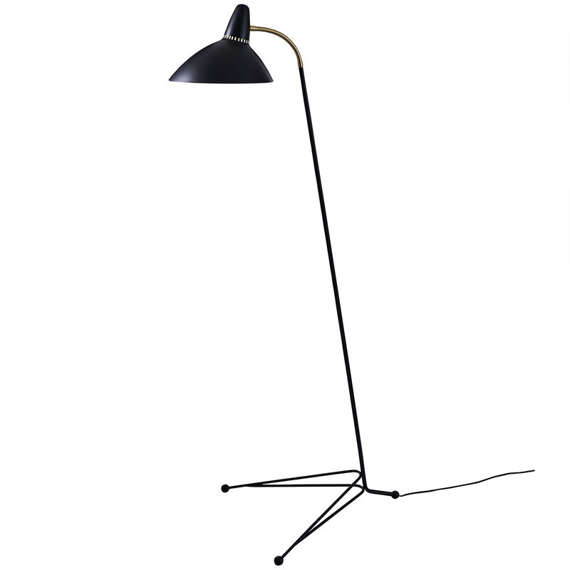 Warm Nordic Lightsome Floor Lamp Black