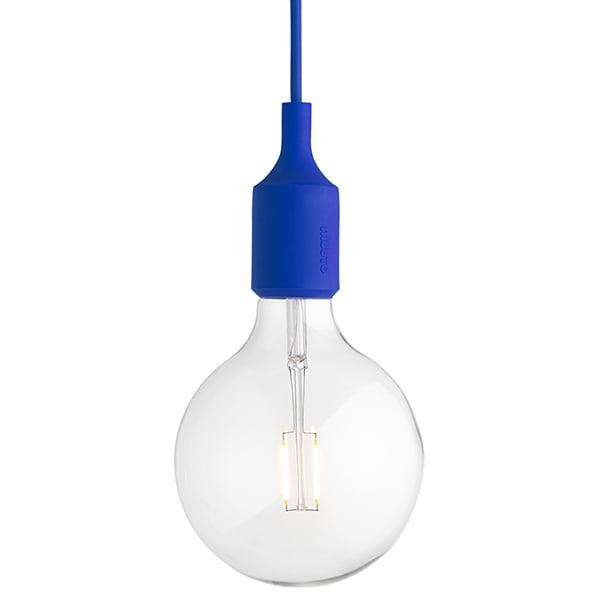 Muuto E27 LED socket lamp, blue