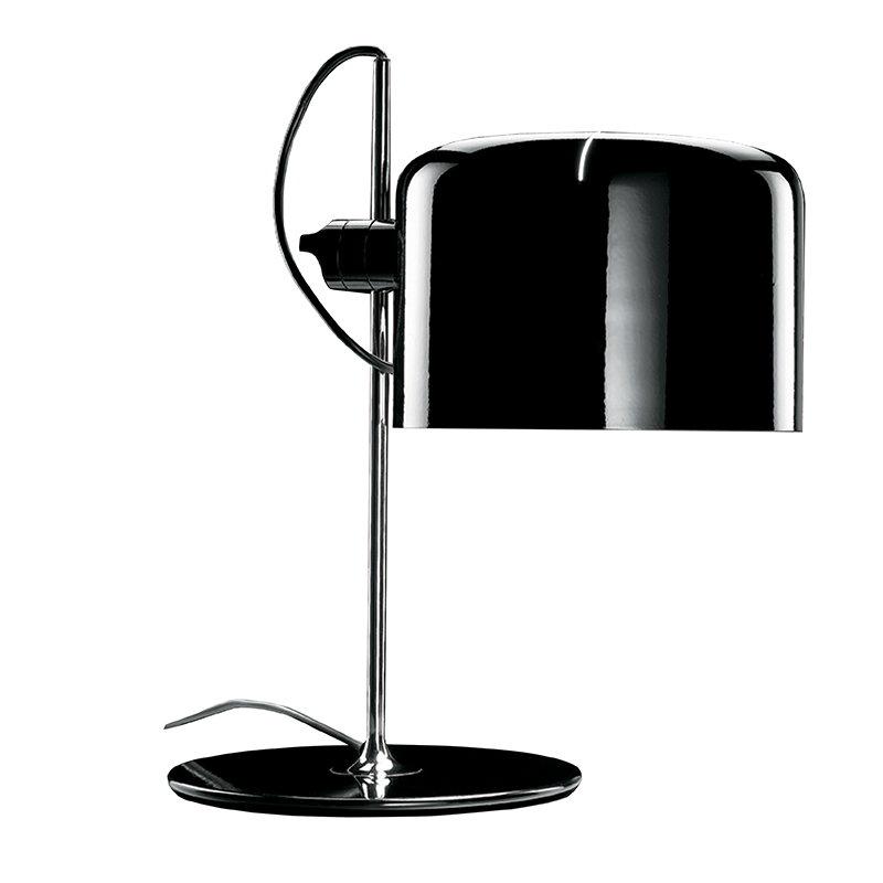 Oluce Lampada da tavolo Coupé 2202, nera