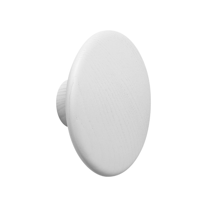 Muuto Gancio appendiabiti singolo Dots Wood, bianco