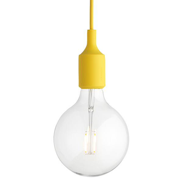 Muuto E27 LED socket lamp, yellow