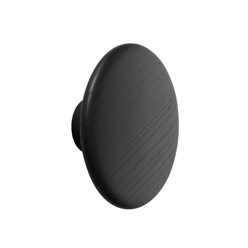Muuto Dots Wood coat hook, black