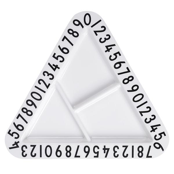 Design Letters Melamine triangular snack plate