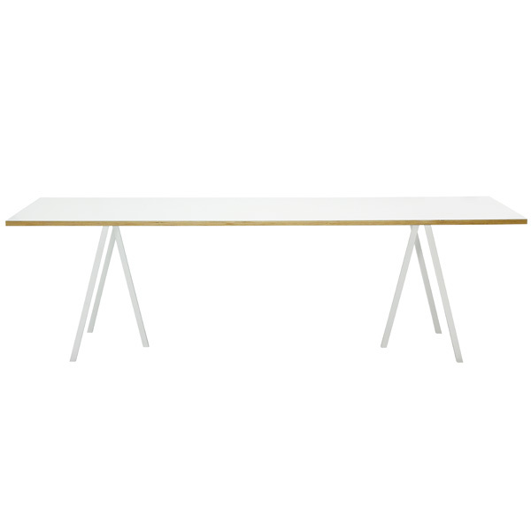 Hay Loop Stand table 200 cm, white