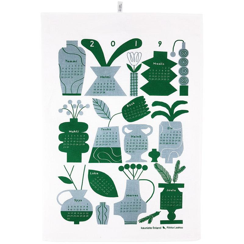 Kauniste  Calendar tea towel 2019, grey
