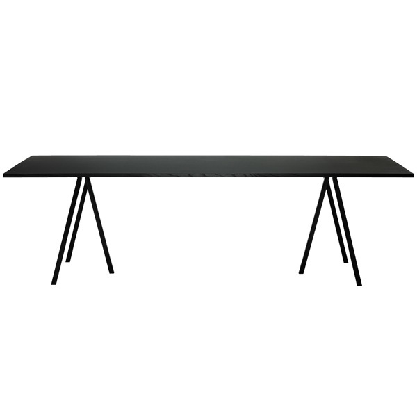 hay loop stand table 200 cm black finnish design shop. Black Bedroom Furniture Sets. Home Design Ideas