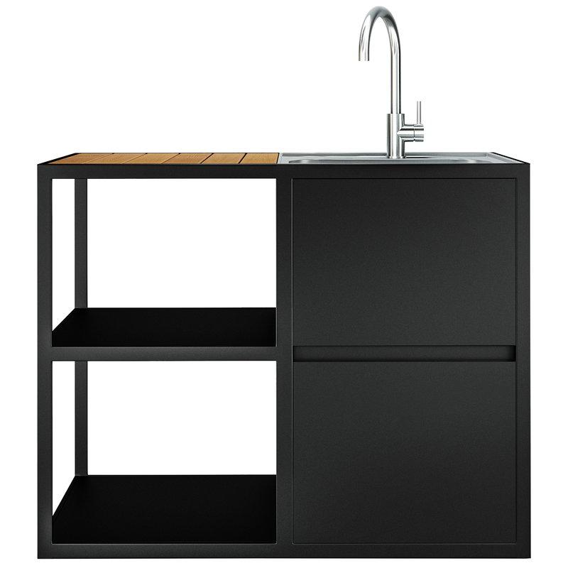 Groovy Garden Kitchen Sink Hot Cold Water Anthracite Download Free Architecture Designs Sospemadebymaigaardcom
