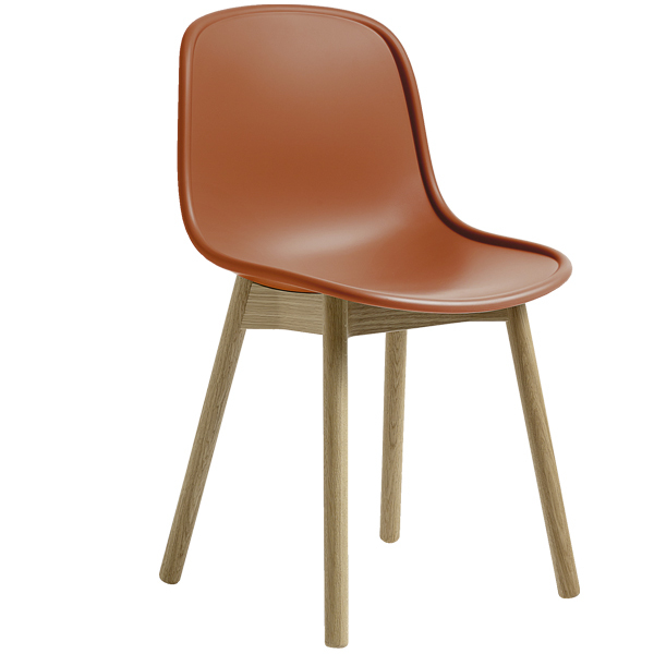 Hay Neu13 chair, orange - matt lacquered ash