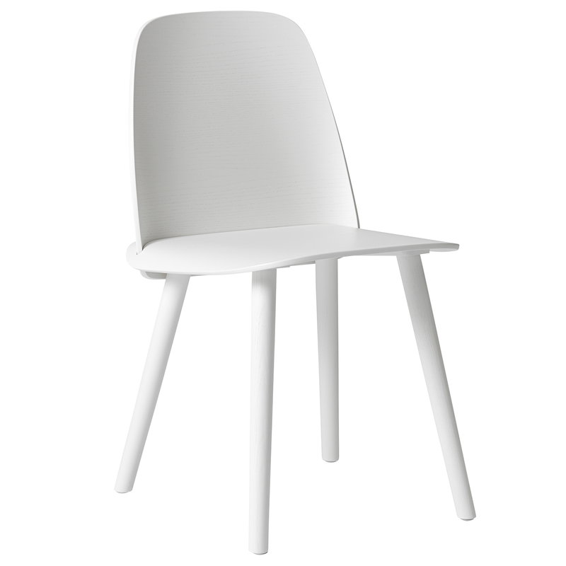 Muuto Nerd chair, white, PU lacquer