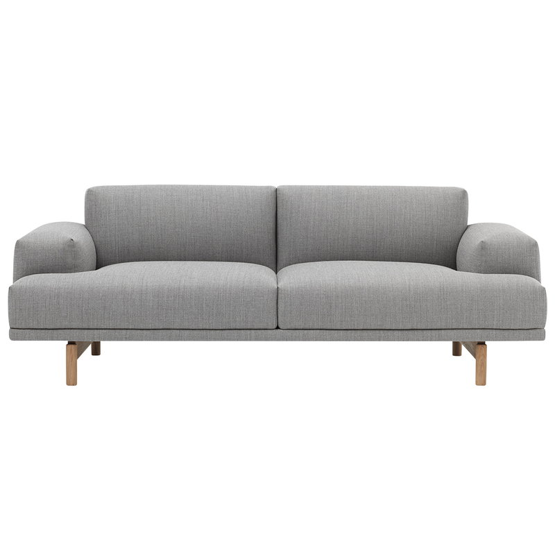 Muuto Compose sofa, 2-seater, oak legs