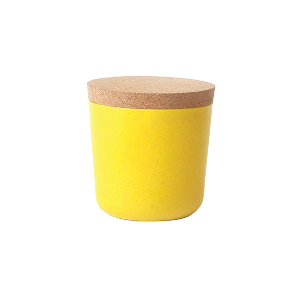Ekobo Claro storage jar, S, lemon