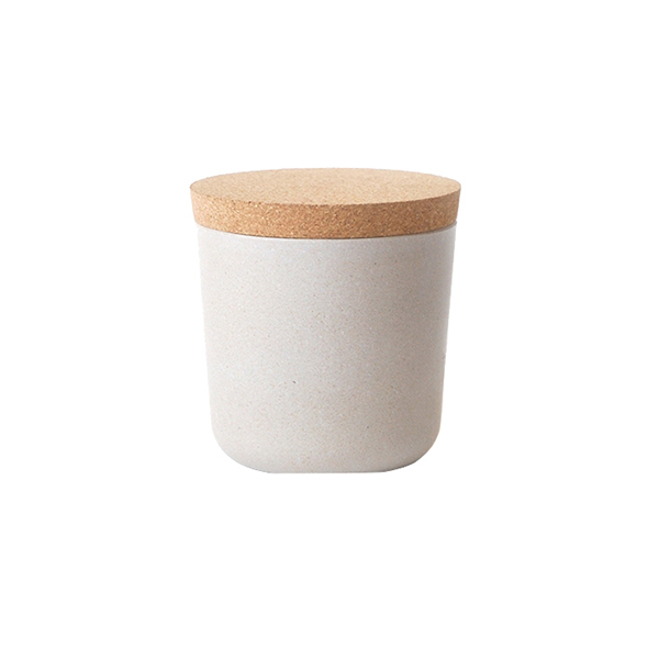Ekobo Claro storage jar, S, stone