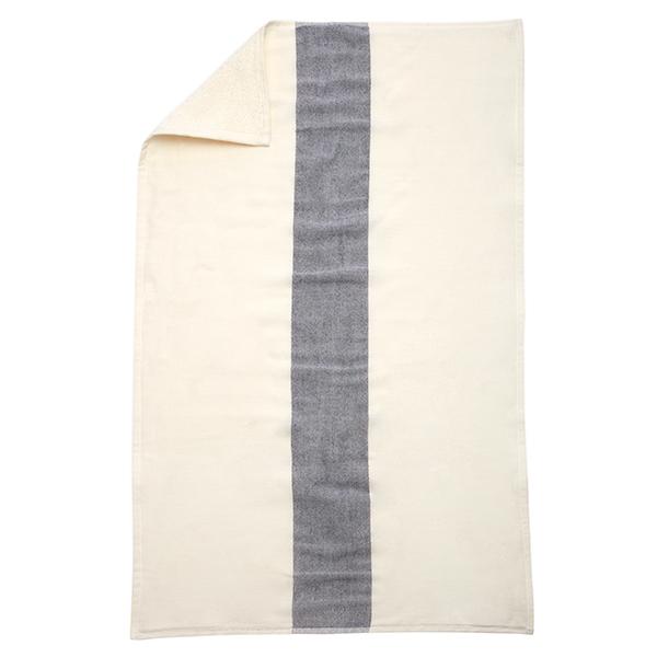 Skagerak Telo da doccia Stripes 70 x 140 cm, bianco / blu scuro