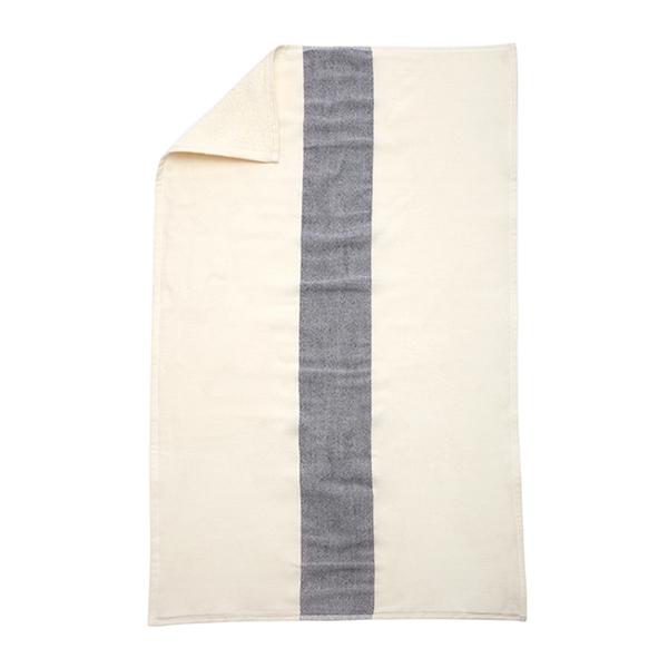 Skagerak Stripes towel 50 x 100 cm, white / dark blue