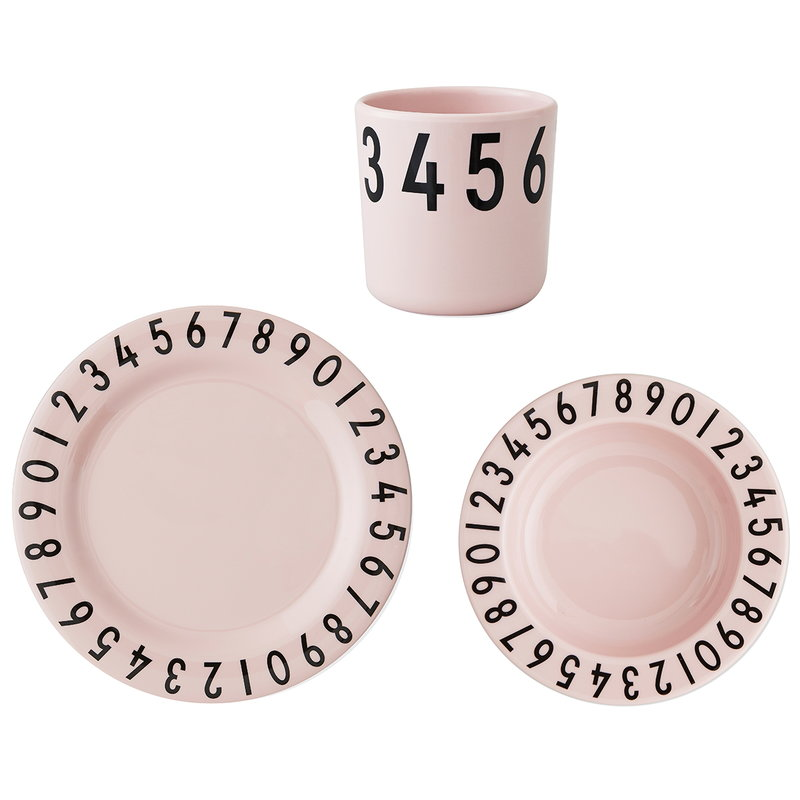 Design Letters Set in melamina The numbers, rosa