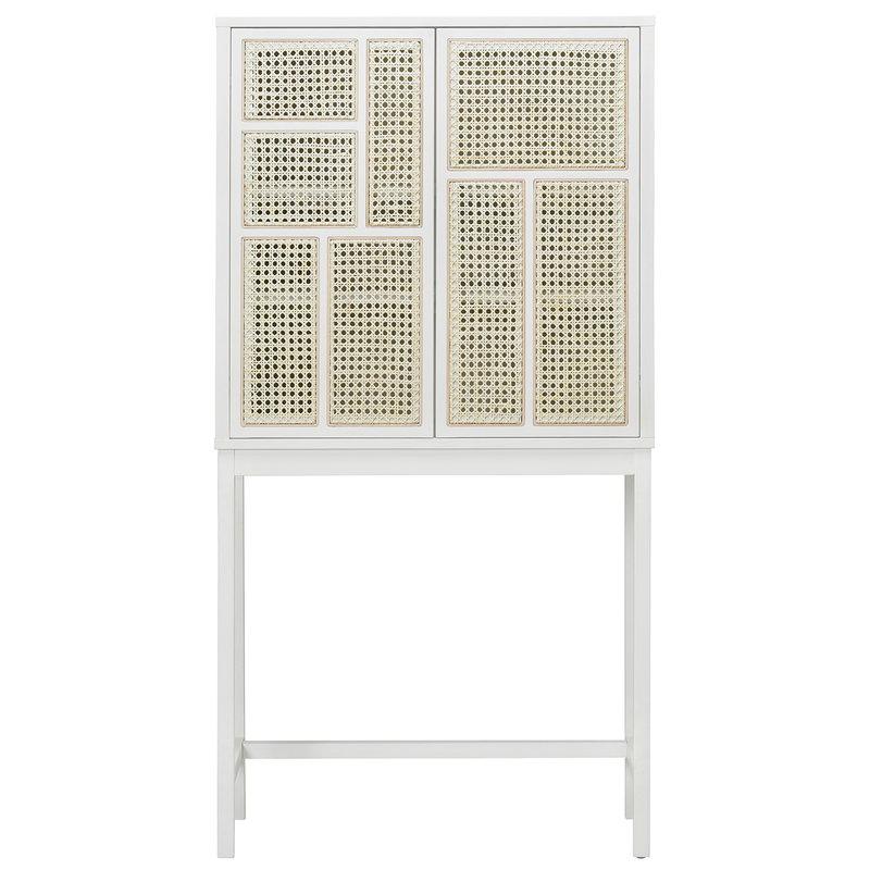 Design House Stockholm Air cabinet, white - cane