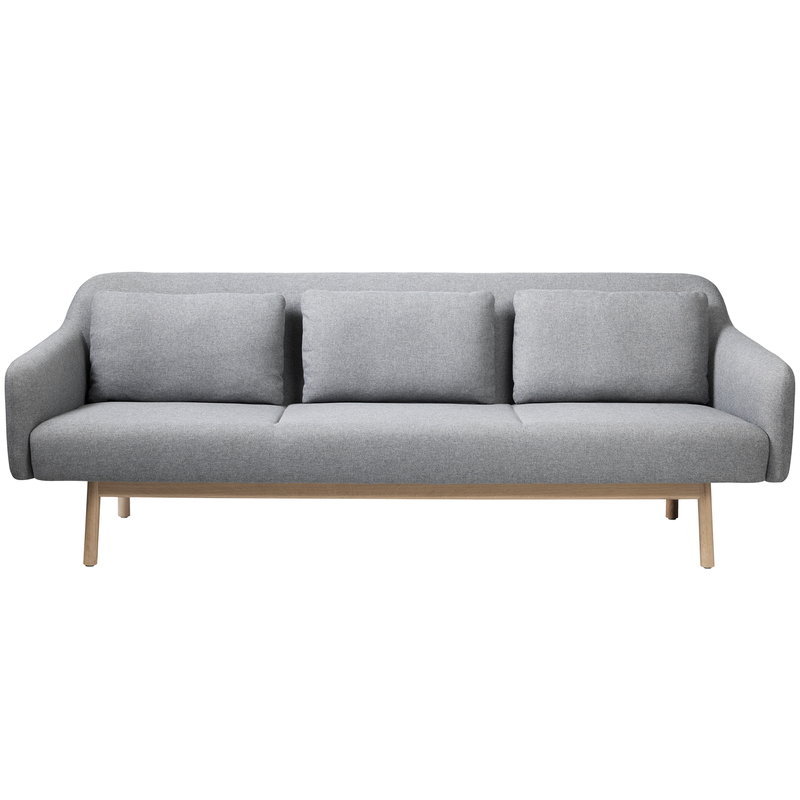 FDB Møbler L34 Gesja sofa, 3-seater, light grey