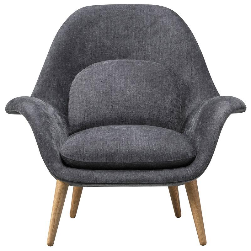 Fredericia Swoon armchair, Maple 192 - oiled oak