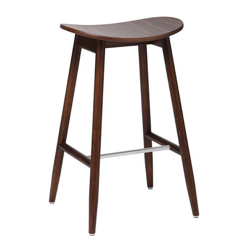 Massproductions Icha bar stool, 65 cm, walnut stained beech
