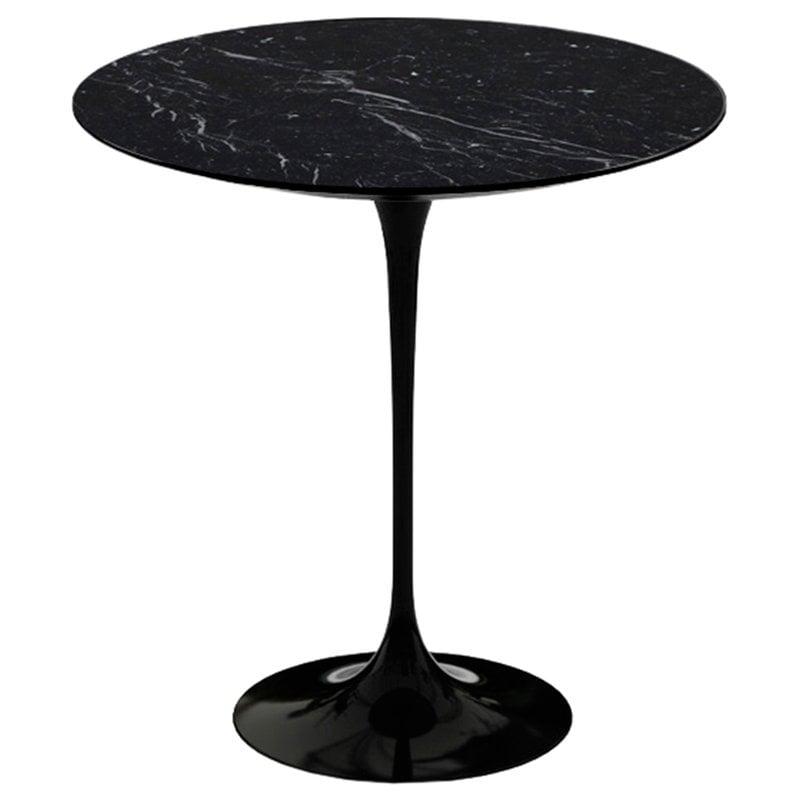 Knoll Tulppaani sivupöytä 51 cm, musta marmori