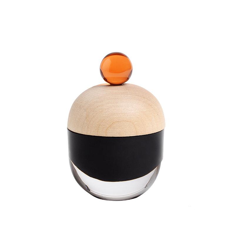 Katriina Nuutinen Lyyli box, small, black/orange