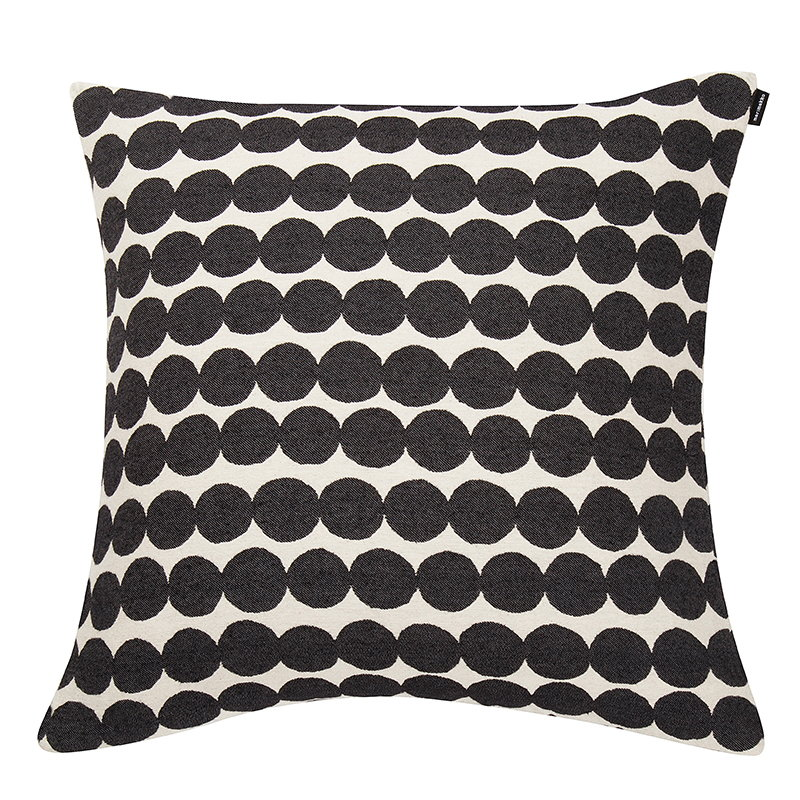 Marimekko Räsymatto cushion cover, black-white