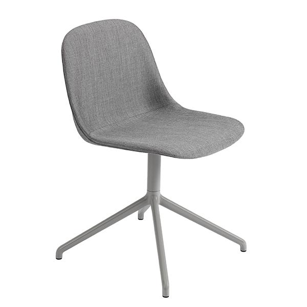 Muuto Fiber tuoli, pyörivä, Remix 133 - harmaa