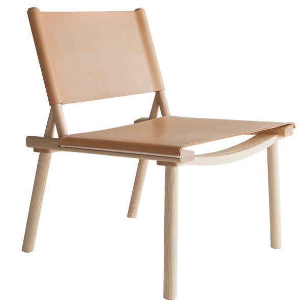 Nikari December XL chair, ash - natural leather